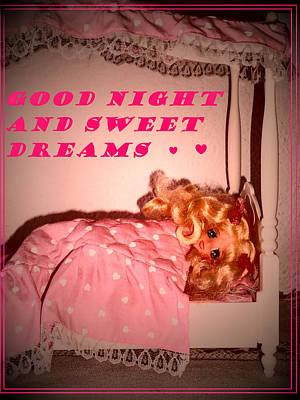 Candy Candy Doll Photograph - Good Night Love by Donatella Muggianu