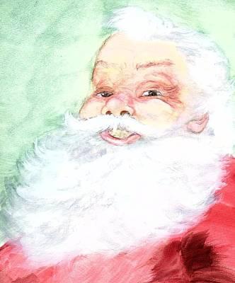 Santa Claus Painting - Good Ole Santa by Nicole Brown