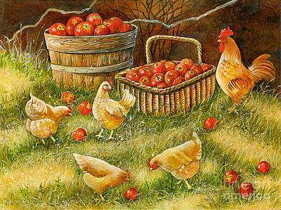 Good Pickings Art Print by Val Stokes