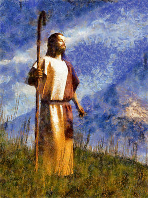 Christian Art Painting - Good Shepherd by Christian Art