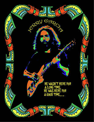 Jerry Garcia Photograph - Good Times With Jerry by Ben Upham