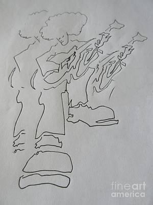 Musicians Drawings - Good Vibrations by John Malone