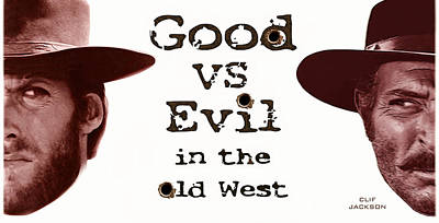 Digital Art - Good Vs Evil by Clif Jackson