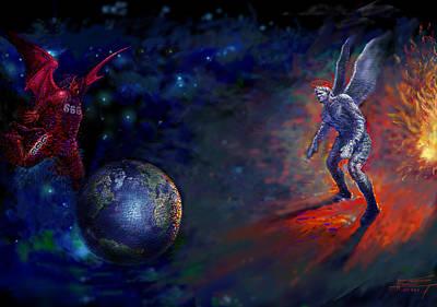 Mass Digital Art - Good Vs Evil by Ylli Haruni