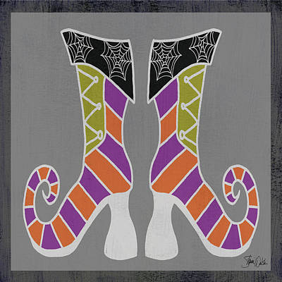 Halloween Painting - Good Witch Boots 1 by Shanni Welsh