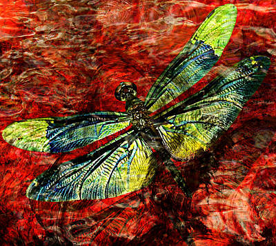 Timeless Mixed Media - Goodbye Dragonfly by Ally  White