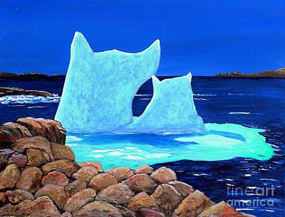 Melting Ice Painting - Goodbye Greenland by Barbara Griffin