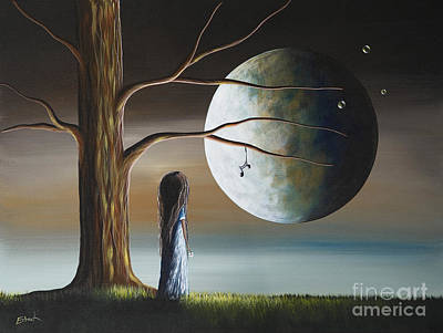 Moon Rise Painting - Goodbye Is The Hardest Word By Shawna Erback by Shawna Erback