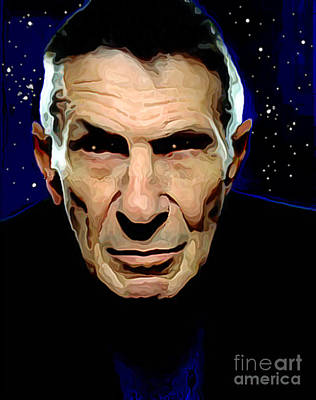 Goodbye Leonard Nimoy Original by Charlie Spear