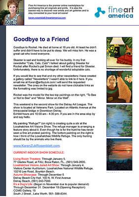 Painting - Goodbye To A Friend by Karen Zuk Rosenblatt