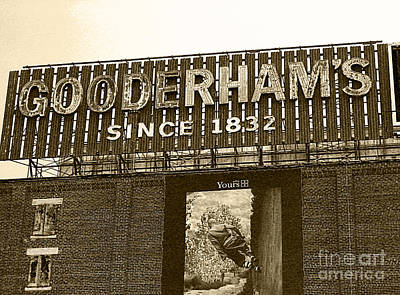 Photograph - Gooderhams Distillery Sign by Nina Silver