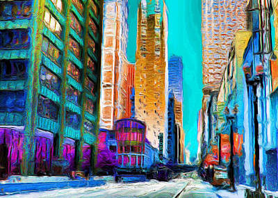 Painting - Goodman Theater Of Chicago by Ely Arsha