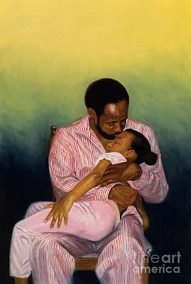 Contemporary Black Art Painting - Goodnight Baby by Colin Bootman