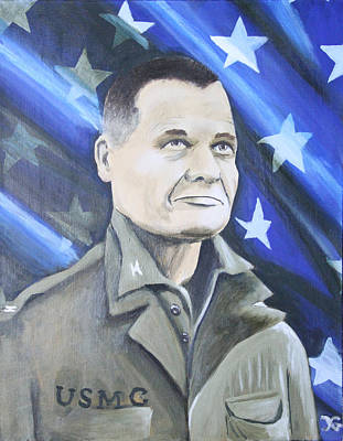 Badass Painting - Goodnight Chesty Wherever You Are by Christian Gabriel