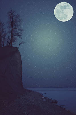 Night Moon Photograph - Goodnight Moon by Carrie Ann Grippo-Pike