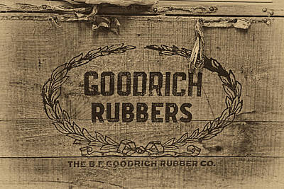 Vintage Shoes Photograph - Goodrich Rubbers Boot Box by Tom Mc Nemar