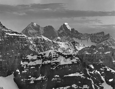 Photograph - 203521-bw-goodsir Mountains by Ed  Cooper Photography