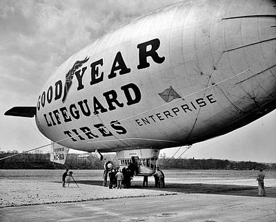 Photograph - Goodyear Blimp 1938 by Benjamin Yeager