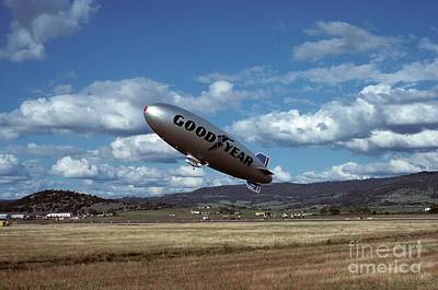 Photograph - Goodyear Blimp At Medford 1978 by James B Toy