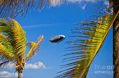 Photograph - Goodyear Blimp by Les Palenik