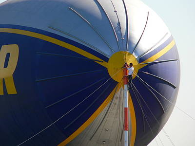 Photograph - Goodyear Blimp Nose Crewman by Jeff Lowe