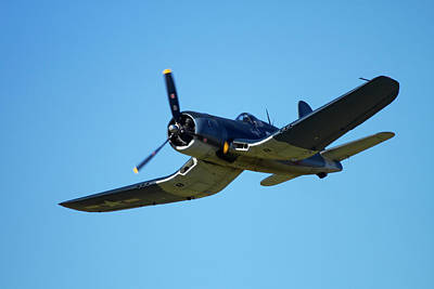 Sikorsky Photograph - Goodyear Corsair Fg-1d  'whispering by David Wall
