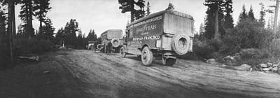 Truck Photograph - Goodyear Wingfoot Express by Underwood Archives