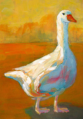 Painting - Goose A Farm Animal by Patricia Awapara