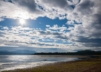 Art Print featuring the photograph Goose Bay Sunrays by Jan Davies