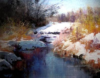 Painting - Goose Creek Winter by Joseph Barani