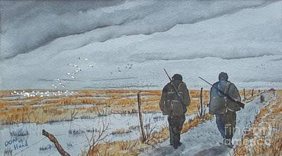 Snow Geese Painting - Cold Weather by Don Hand