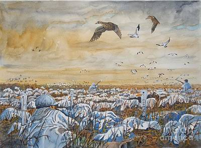 Snow Geese Painting - What A Morning by Don Hand
