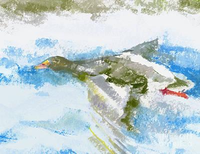 Goose In Flight Art Print