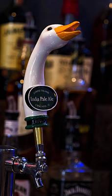 Beer Photos - Goose Island Tap by Linda Tiepelman