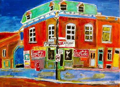 Litvack Painting - Goose Village Zaleski 1963 by Michael Litvack