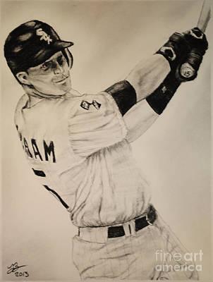 Chicago White Sox Drawing - Gordon Beckham by Tim Brandt