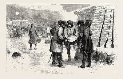 Trench Drawing - Gordon In The Crimea 1855 In The Trenches Before Sebastopol by English School