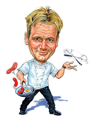Comics Royalty-Free and Rights-Managed Images - Gordon Ramsay by Art