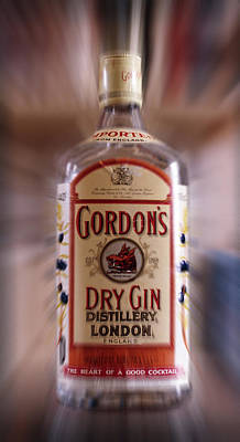 Photograph - Gordons Dry Gin 1977 by Dragan Kudjerski