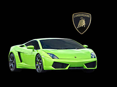 Photograph - Gorgeous Green Lamborghini by Gill Billington