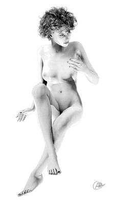 Female Nude. Nude Drawings Digital Art - Gorgeous Woman  by Quim Abella