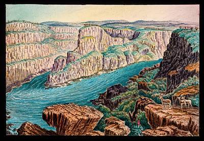 Gorges Below Victoria Falls Art Print by Gustoimages/science Photo Libbrary