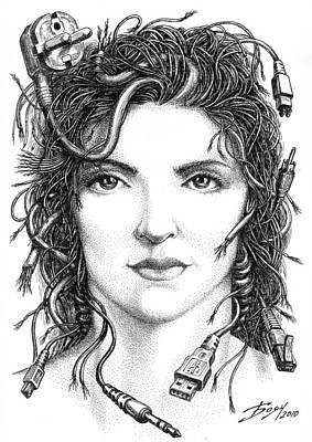 Gorgon Drawing - Gorgon Medusa by Boyan Donev