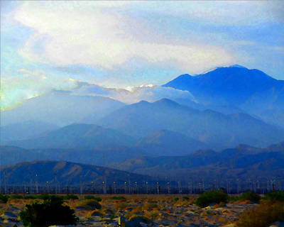 Photograph - Gorgonio Pass And Mt. San Gorgonio by Timothy Bulone