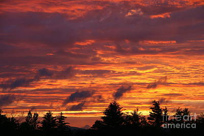 Photograph - Gorham Sunset After Rain by Neal Eslinger