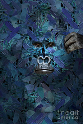 Digital Art - Gorilla - Find Me Series by Aimelle