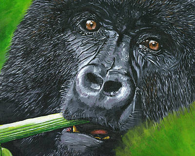 Geographic Painting - Gorilla by Lovejoy Creations