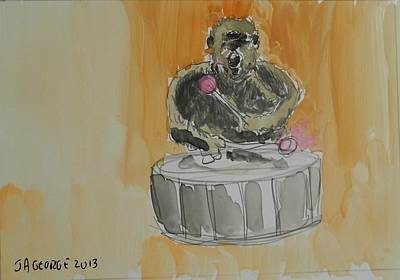 Gorilla Playing Bass Drum Original by James George