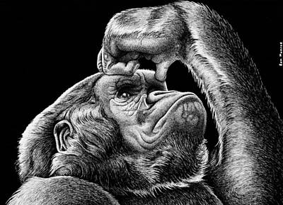 Gorilla Thoughts Original by Ron Monroe
