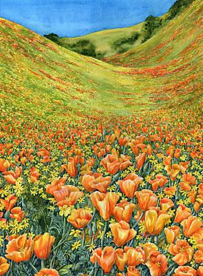 California Poppies Painting - Gorman by Karen Wright